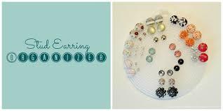 organize stud earrings stud earring organizer desire