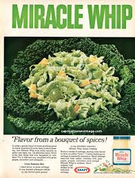 vintage 1966 kraft miracle whip magazine ad with recipe gross food