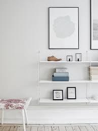 string shelves in a row scandinavian living room for shelves for