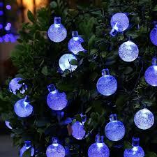 solar globe lights garden qedertek globe ball solar string light 20ft 30 led fairy bubble