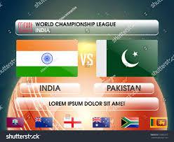 Cricket Flags India Vs Pakistan Cricket Match Concept Stock Vector 379962817