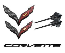 Corvette Flags C7 Corvette Stingray 2014 Carbon Flash Metallic Emblem Package