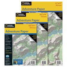 Map Paper Adventure Paper Waterproof Ink Jet Map Paper National