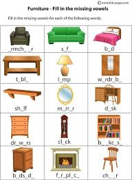 house worksheets furniture fill in worksheet home index