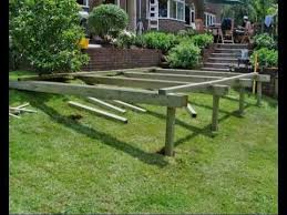 Decking Ideas For Sloping Garden How To Build A Deck Part 05 Building The Subframe How To Build
