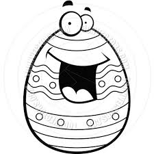 easter egg black and white line art by cory thoman toon