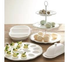 ceramic deviled egg platter leila deviled egg platter pottery barn