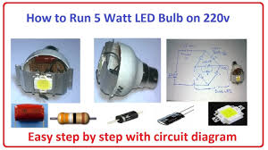 how to run 5 watt led bulb on 220v easy step by step with