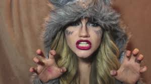 she wolf halloween makeup tutorial youtube