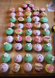 fairytale frosting flowery girlie baby shower cupcakes