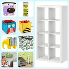 Ikea Storage Bins Furniture White Ikea Toy Storage With Eight Spaces For Children