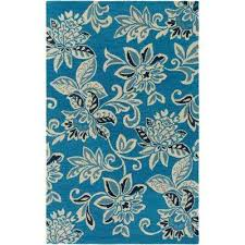 Hibiscus Rug Floral 9 X 13 Area Rugs Rugs The Home Depot