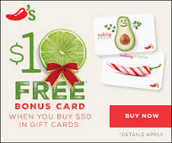 chili gift card free 10 chili s gift card with the purchase of 50 or more in