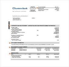 Free Bank Statement Template Excel Bank Statement Template Pdf