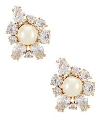 cluster stud earrings kate spade new york flying colors faux pearl cluster stud