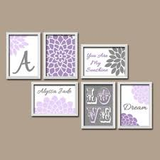 Purple Nursery Wall Decor Purple Nursery Wall Decor Nursery Decorating Ideas
