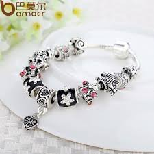 silver bead bangle bracelet images 925 silver heart charm bracelet bangle with glass beads ace gems jpg