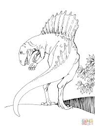 spinosaurus coloring page dinosaur my coloring land to download 3359