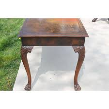 Antique Writing Table Antique Leather Top Claw Foot Writing Desk Chairish