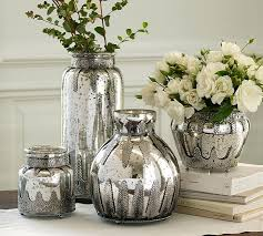 Silver Vase Wholesale Mercury Glass Vase Mercury Vase Glass Tapered 675in Bulk