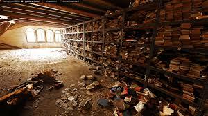 earth panorama forgotten communist era attic library walddorf