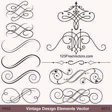 vintage calligraphic vector ornaments by 123freevectors on deviantart