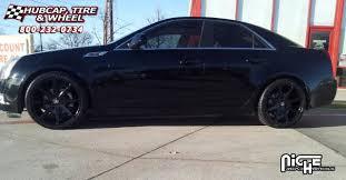 2008 cadillac cts tire size cadillac cts dub push s110 wheels gloss black