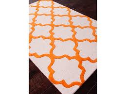 Orange Area Rug 5x8 Jaipur Rugs Floor Coverings Tufted Geometric Pattern Wool