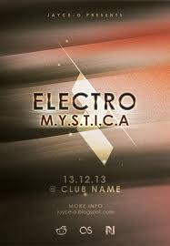 free electro flyer template psd posters