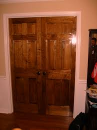 What Colors Go With Peach Walls by Bedroom White Pine Wood Sliding Closet Doors Combined Light Blue