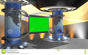 virtual set stage studio green screen broadcast internet