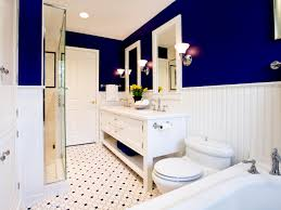 Dark Blue Accent Wall by Modern Accessory Ideas For Bathroom Color Schemes With Large Blue