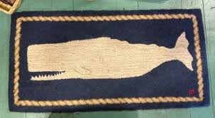 small whale rug white on navy nantucket book partners