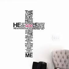 aliexpress com buy cartoon typography christian god cross wall