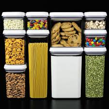 Storage Canisters Kitchen by Amazon Com Oxo Good Grips 10 Piece Airtight Food Storage Pop