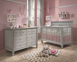 Baby Nursery Sets Furniture Natart Belmont 2 Nursery Set In Grey Crib And