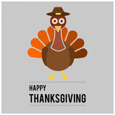 gray background with a turkey for thanksgiving day vector free