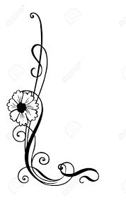 vector illustration of floral ornament corner decoration royalty
