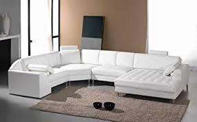 Cheap White Leather Sectional Sofa Vig Furniture Monaco White Leather Sectional Sofa