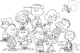 charlie brown characters coloring coloring pages