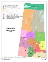 Churchill Canada Map by 10 Saskatchewan Health Regions 2015