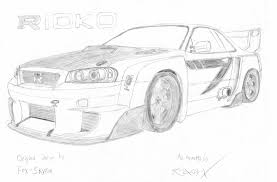nissan skyline drawing outline nissan skyline drawing u2013 images free download