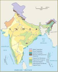 map types forestry forest types map india