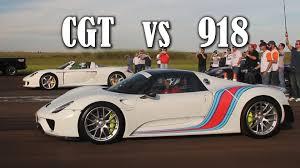 Porsche 918 Custom - past vs present porsche carrera gt takes on porsche 918 spyder