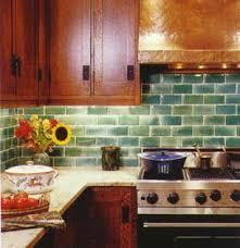 Green Tile Backsplash by Green Subway Tile Backsplash Sladkusj Flickr