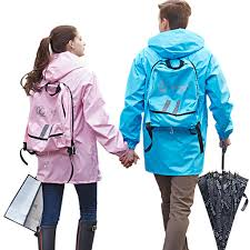 cycling coat qinfeiman unibody rain jacket cycling backpack raincoat for women men