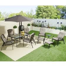 furniture cozy black wrought outdoor furniture with backyard