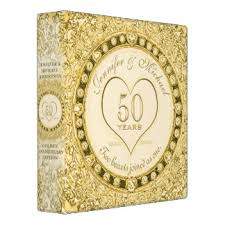 50th anniversary photo album 50th wedding anniversary album custom binders zazzle