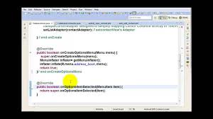 android oncreateoptionsmenu 66 android project address book app managing cursors and