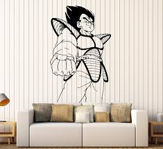 amazon com vegeta dragon ball z cartoon anime manga decor wall amazon com vegeta dragon ball z cartoon anime manga decor wall mural vinyl art sticker p434 home kitchen